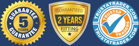 5 Year Manufacturer's Warranty & 2 Year Fitting Guarantee on all doors installed. Members of Trustatrader.com